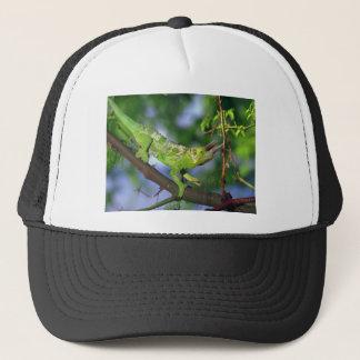 horned chameleon trucker hat