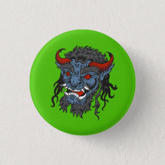 Horned Demon Monster Graphic Pinback Button