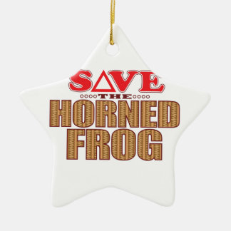 Horned Frog Save Christmas Ornament