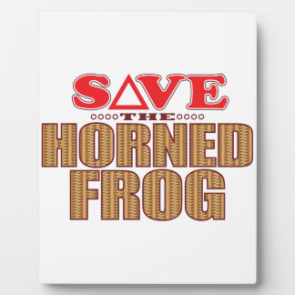 Horned Frog Save Plaque