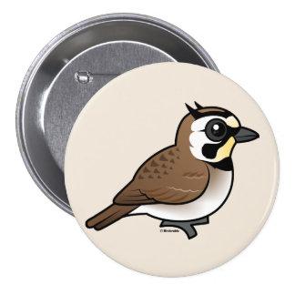 Horned Lark 7.5 Cm Round Badge