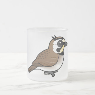 Horned Lark Frosted Glass Coffee Mug