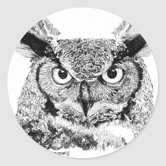 Horned Owl Sticker