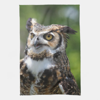 Horned Owl Tea Towel