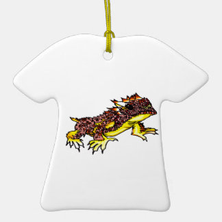 HORNED TOAD CERAMIC T-Shirt ORNAMENT