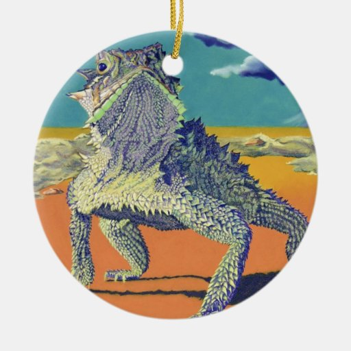 Horned Toad, Lizard Christmas Ornament