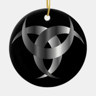 Horned Triskele- The horn of Odin Christmas Ornament