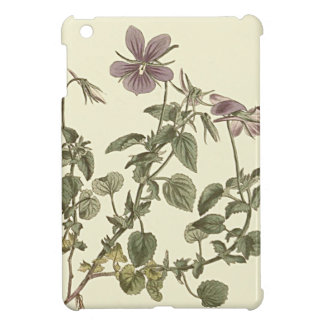 Horned Violet Botanical Illustration Cover For The iPad Mini