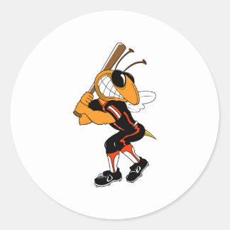 Hornet Ball Player Round Sticker