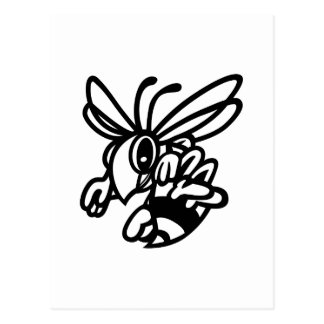 Hornets Outline Postcard