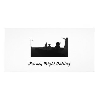 Horney Night Outting Customized Photo Card