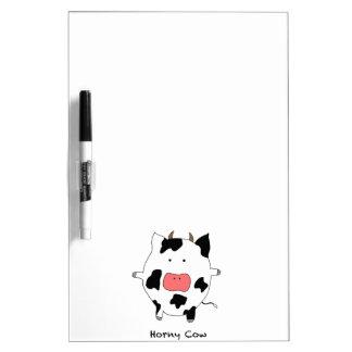 Horny Cow! Dry Erase Board