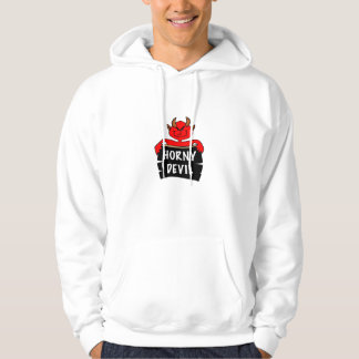 Horny Devil Halloween Hooded Sweatshirt