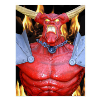 Horny Devil Man Postcard