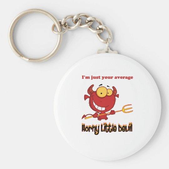 Horny Little Devil Basic Round Button Key Ring