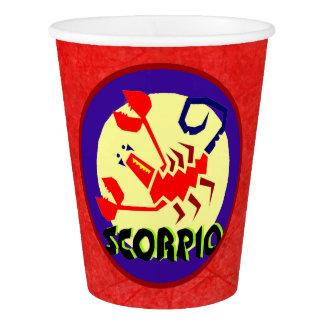Horoscope Astrological Zodiac Sign Scorpio Paper Cup