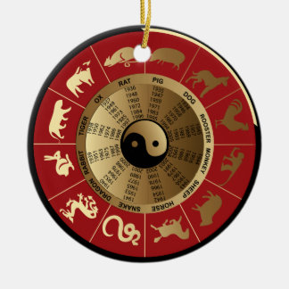 horoscope chinese zodiac christmas ornament