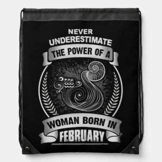 Horoscope February Drawstring Bag