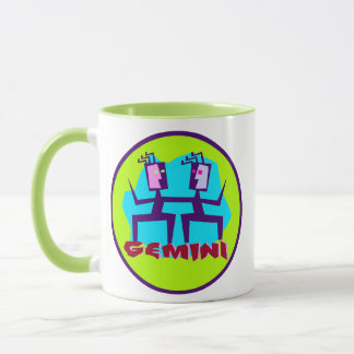 Horoscope Gemini Sign Twins Symbol Coffee Cup