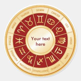 Horoscope Mandala Classic Round Sticker