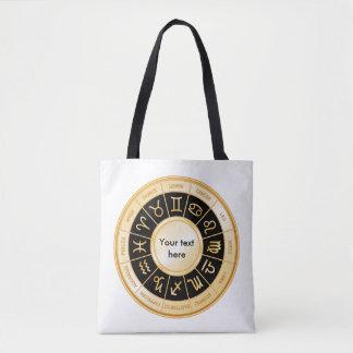 Horoscope Mandala Tote Bag