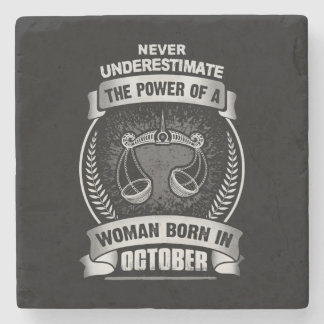Horoscope October Stone Coaster