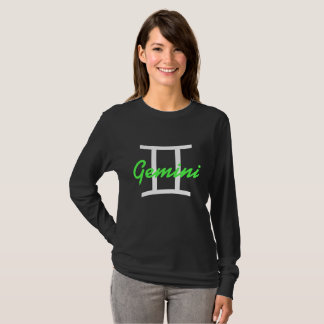 Horoscope Sign Gemini Lime Green Symbol Shirt