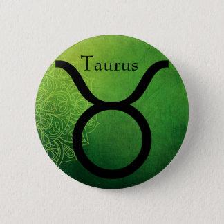 Horoscope Zodiac Astrological Sign Taurus Button