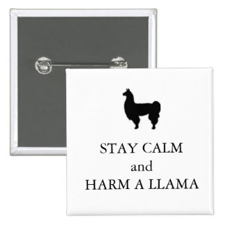 "Horrible Histories ""Harm a Llama"" badge"
