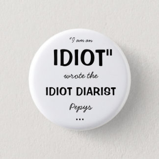 Horrible Histories Idiot Diarist badge