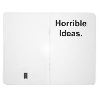 Horrible Ideas (black on white) Journal