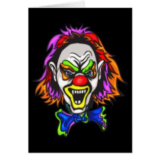 Horrid Evil Clown Greeting Card