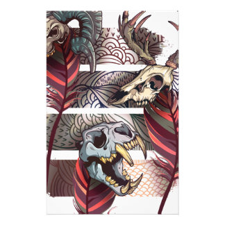 Horror Animal Curse Skeleton Skull Stationery