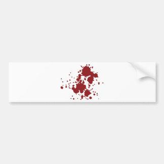 horror blood stains bumper sticker