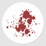 horror blood stains classic round sticker