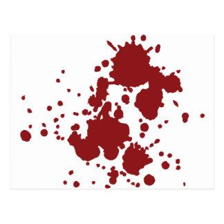 blood splatter postcards. Black Bedroom Furniture Sets. Home Design Ideas