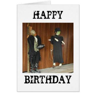 Horror Characters Happy Birthday Card