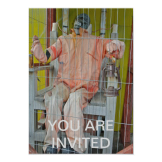 """Horror Characters Invitation 5"""" X 7"""" Invitation Card"""