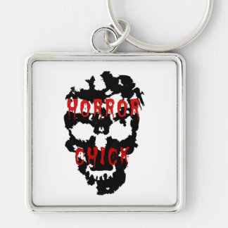 horror chick keychain
