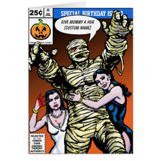 Horror Comic Style Birthday Greeting Cards