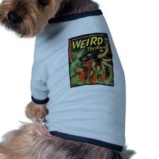 Horror Comic Weird Thrillers 4 Doggie Tee Shirt
