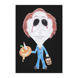 Horror Cult Movie Caricature Serial Killer Canvas