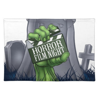 Horror Film Zombie or Monster Clapper Board Sign Placemat
