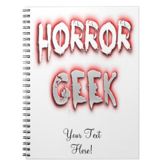 Horror Geek Red Notebooks