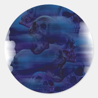 Horror Ghost Skeleton Classic Round Sticker