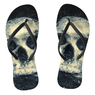 Horror Halloween Skull Flip Flops