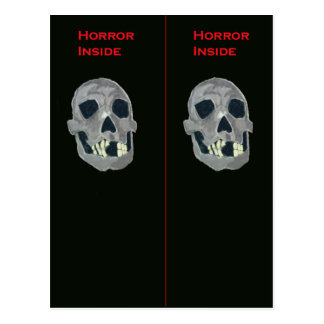 Horror inside Bookmark Postcard