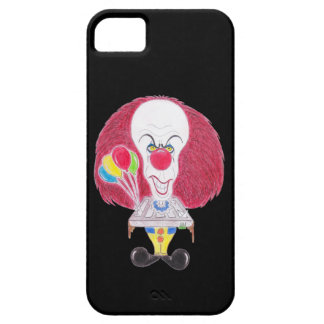 Horror Movie Clown Caricature Drawing Phone Case