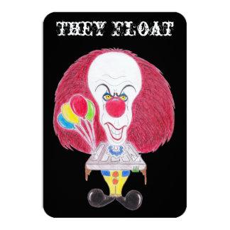 Horror Movie Clown Caricature They Float Card 9 Cm X 13 Cm Invitation Card