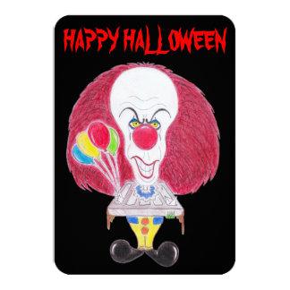 Horror Movie Happy Halloween Clown Caricature Card 9 Cm X 13 Cm Invitation Card